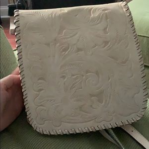 Patricia Nash off white crossover purse